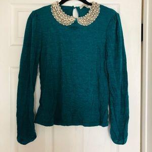 Sweaters - Jewel collar sweater